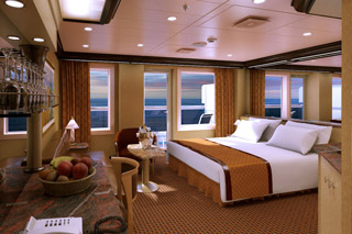 Suite cabin on Costa Diadema