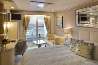 Balcony cabin on Crystal Symphony