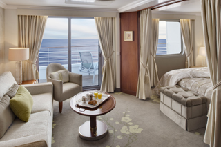 Penthouse Suite with Verandah on Crystal Symphony