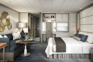 Suite cabin on Crystal Esprit