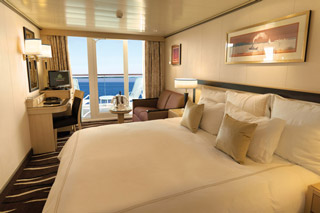 Balcony cabin on Queen Mary 2