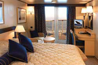 Balcony cabin on Queen Victoria