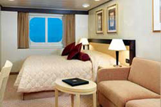 Oceanview cabin on Queen Victoria