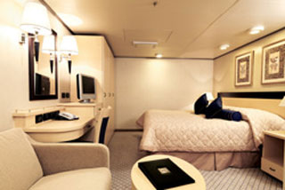 Inside cabin on Queen Victoria