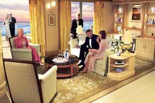 Suite cabin on Queen Victoria