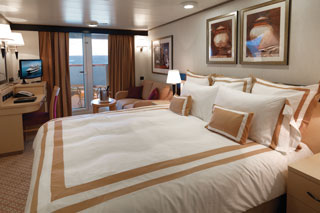 Balcony cabin on Queen Elizabeth