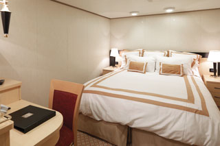 Inside cabin on Queen Elizabeth