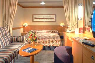 Inside cabin on Disney Wonder
