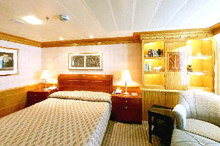 Suite cabin on Disney Wonder