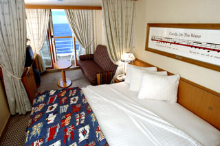 Balcony cabin on Disney Wonder