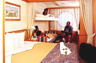 Oceanview cabin on Disney Wonder