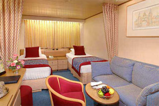 Inside cabin on Maasdam