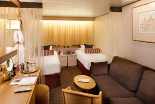 Inside cabin on Veendam