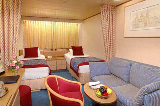 Inside cabin on Volendam