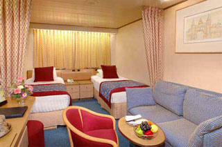 Inside cabin on Zaandam