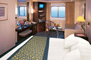 Large Oceanview Stateroom (Porthole Window) on Prinsendam