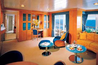Suite cabin on Prinsendam