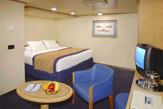 Inside cabin on Zuiderdam