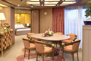Suite cabin on Zuiderdam