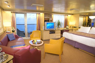 Suite cabin on Zuiderdam