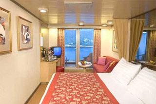 Balcony cabin on Oosterdam