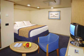 Inside cabin on Oosterdam