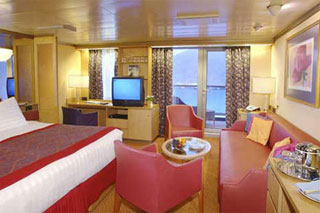 Suite cabin on Oosterdam