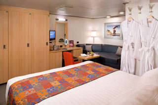 Inside cabin on Eurodam
