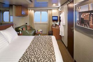 Oceanview cabin on Nieuw Amsterdam