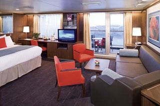 Suite cabin on Nieuw Amsterdam