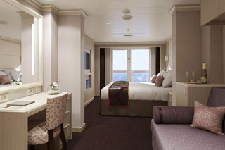 Suite cabin on Koningsdam
