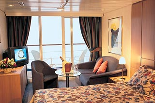 Suite cabin on MSC Sinfonia