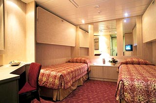 Inside cabin on MSC Sinfonia