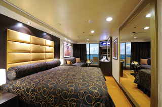 Balcony cabin on MSC Fantasia