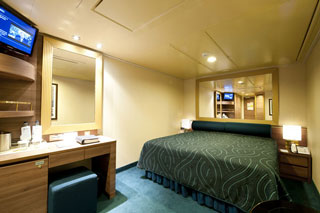 Inside cabin on MSC Splendida