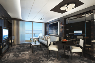 Suite cabin on Norwegian Bliss