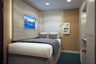 Inside cabin on Norwegian Bliss