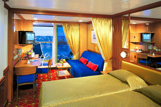 Suite cabin on Norwegian Star