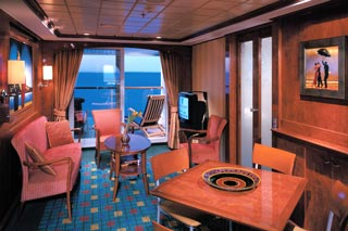 Suite cabin on Norwegian Dawn