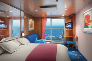 Balcony cabin on Norwegian Dawn