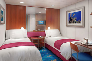 Inside cabin on Norwegian Dawn