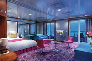 Suite cabin on Pride of America