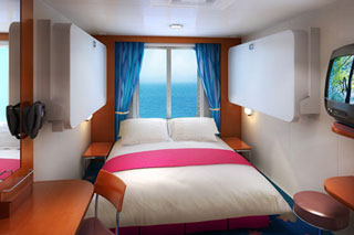 Oceanview cabin on Pride of America