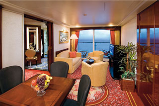 Suite cabin on Norwegian Spirit