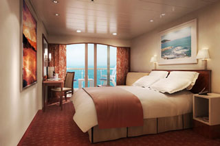 Balcony cabin on Norwegian Spirit