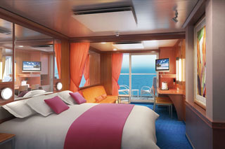 Suite cabin on Norwegian Jewel