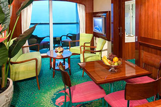 Suite cabin on Norwegian Jewel