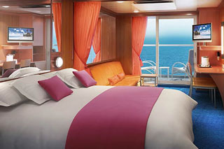 Suite cabin on Norwegian Pearl