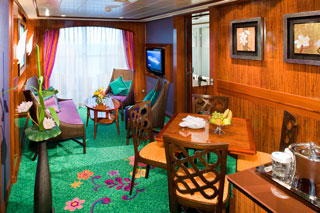Suite cabin on Norwegian Gem