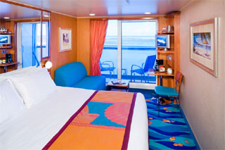 Balcony cabin on Norwegian Gem